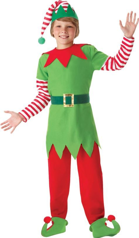 Child Elf Costume Party City Christmas Elf Costume Boys Elf Costume Diy Elf Costume