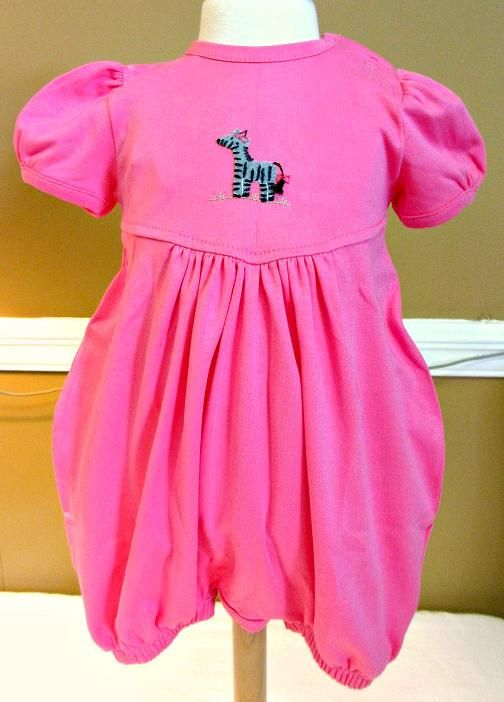 Squiggles By Charlie Girls Zebra Pink Bubble Romper Www