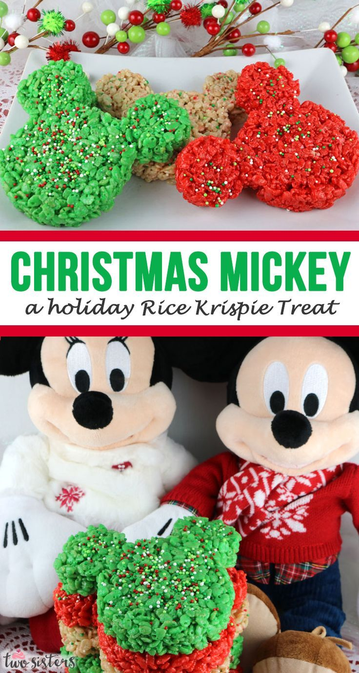 Christmas Mickey Mouse Rice Krispie Treats #ricekrispiestreats