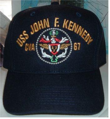 USS John F Kennedy CV-67 Embroidered Stars /& Stripes Baseball Cap Hat