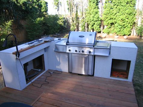 How to Build an Outdoor Kitchen and BBQ Island Grill island