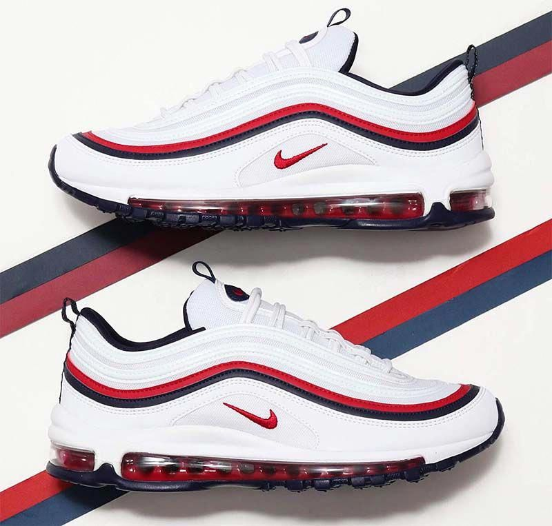 f365fa9d8d129 NIKE AIR MAX 97 [WHITE / RED CRUSH-BLACKENED BLUE] 921733-102 ...