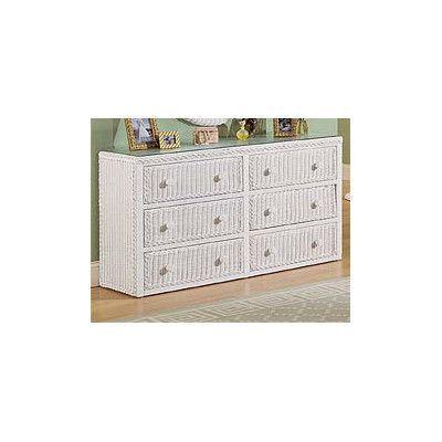 Wicker Warehouse 6 Drawer Dresser Finish: White