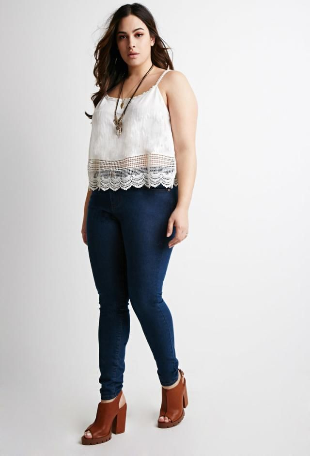 a96de77f55b How to Wear Skinny Jeans if You re Not Skinny  Choose the Right Top to  Balance Skinny Bottoms