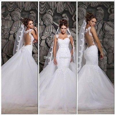 Backless wedding dresses mermaid detachable beaded lace vintage backless wedding dresses mermaid detachable beaded lace vintage bridal gown 2014 junglespirit Gallery
