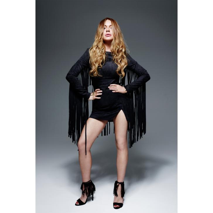 Lavish Alice | LINDSAY LOHAN Suede Fringe Mini Dress | Spoiled Brat