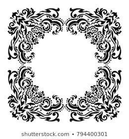 Vintage Baroque Frame Scroll Ornament Engraving Stock Vector (Royalty Free) 794400301 - #baroque #engraving #frame #Ornament #scroll #stock #vintage - #Iran