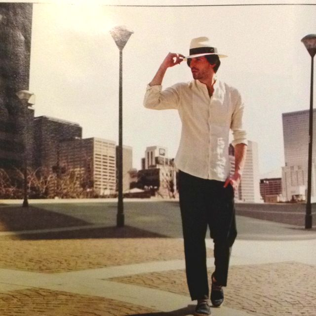 Panama hat by Borsalino  linen shirt  dark blue pants by Gazzarrini and  shoes by Lacoste (from For Men magazine) 2c53c60ae20