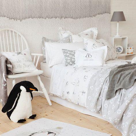 penguins print bed linen bed linen bedroom zara home. Black Bedroom Furniture Sets. Home Design Ideas