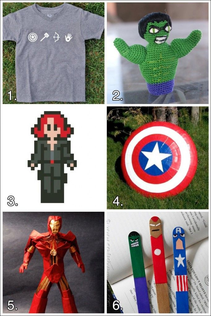 Geek Crafts: Avengers Superhero Craft Roundup #avengers #crafts #superherocrafts