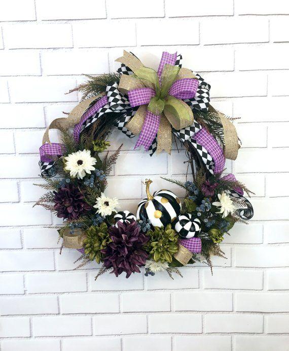 Autumn Wreath, Elegant Fall Wreath, Thanksgiving Wreath ...