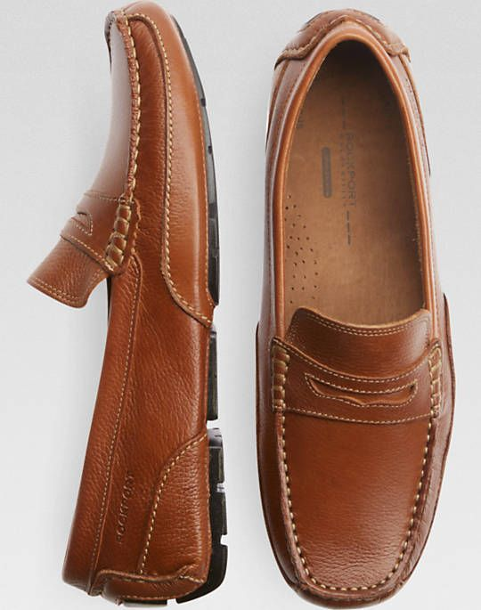 Rockport Oaklawn Park Tan Driver Shoes
