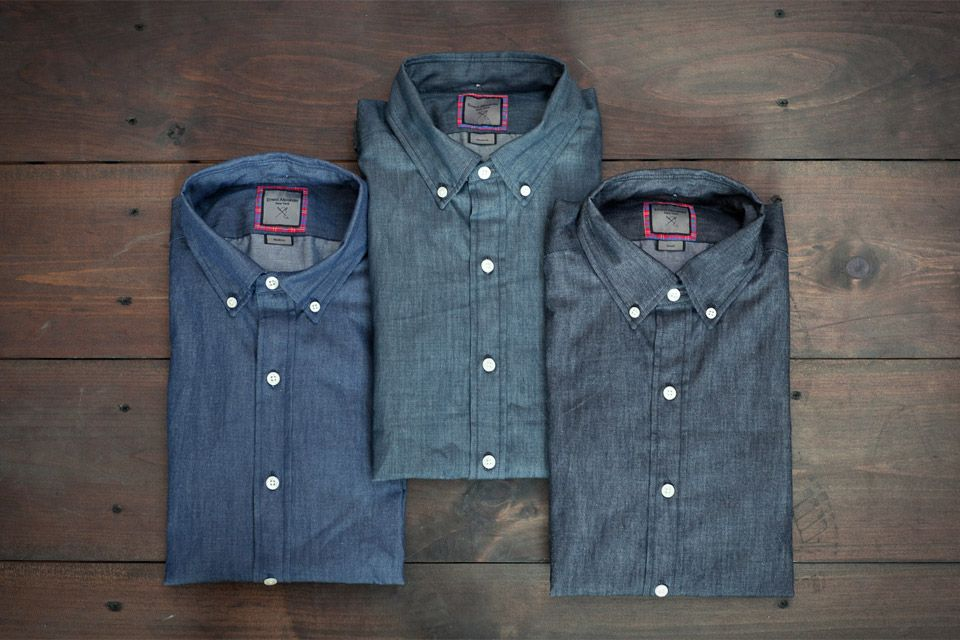 Buy him some Ernest Alexander Denim Shirts made of lightweight Japanese woven raw denim.