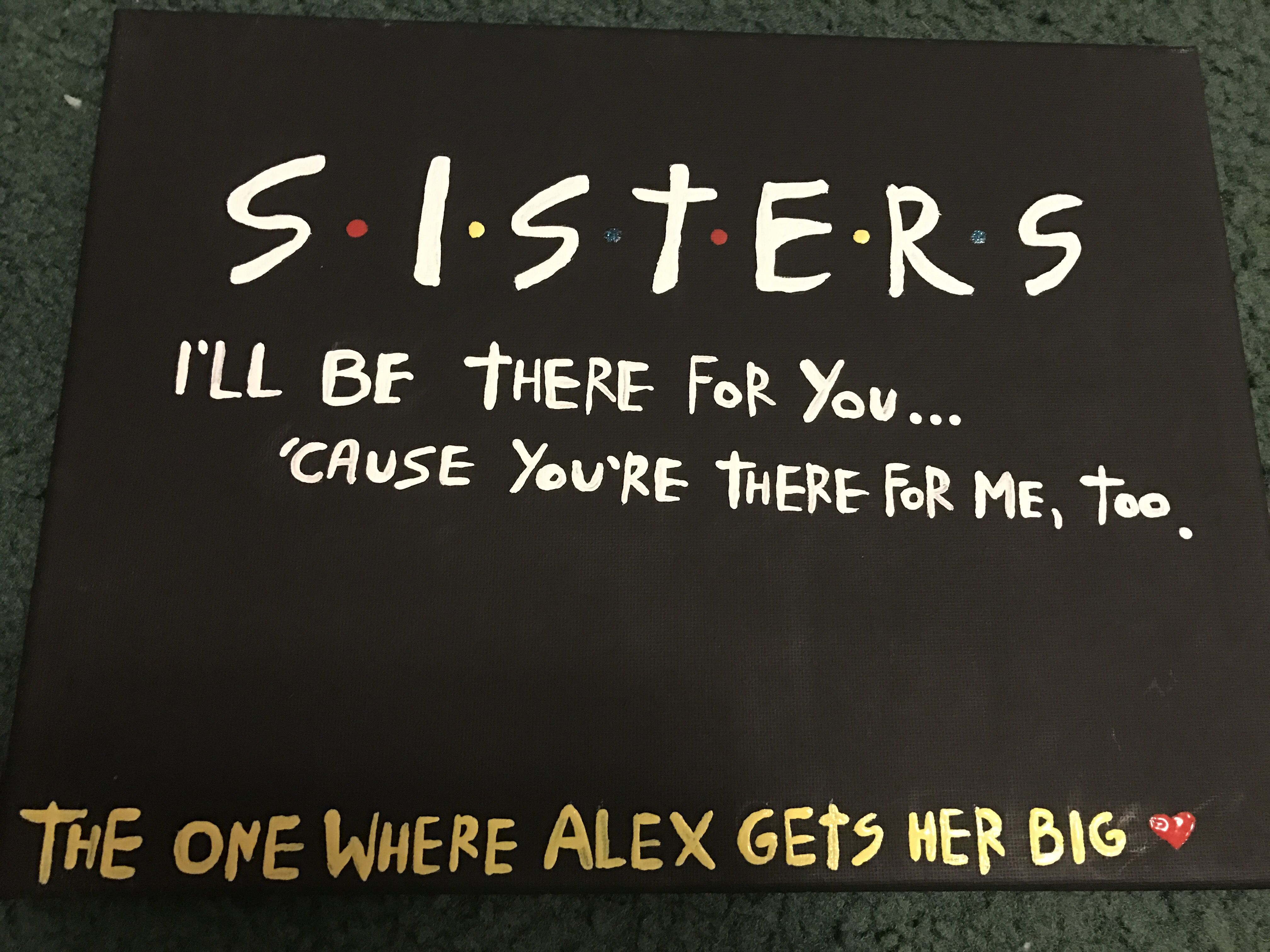Friends sorority canvas big little reveal #friends #sisters ...