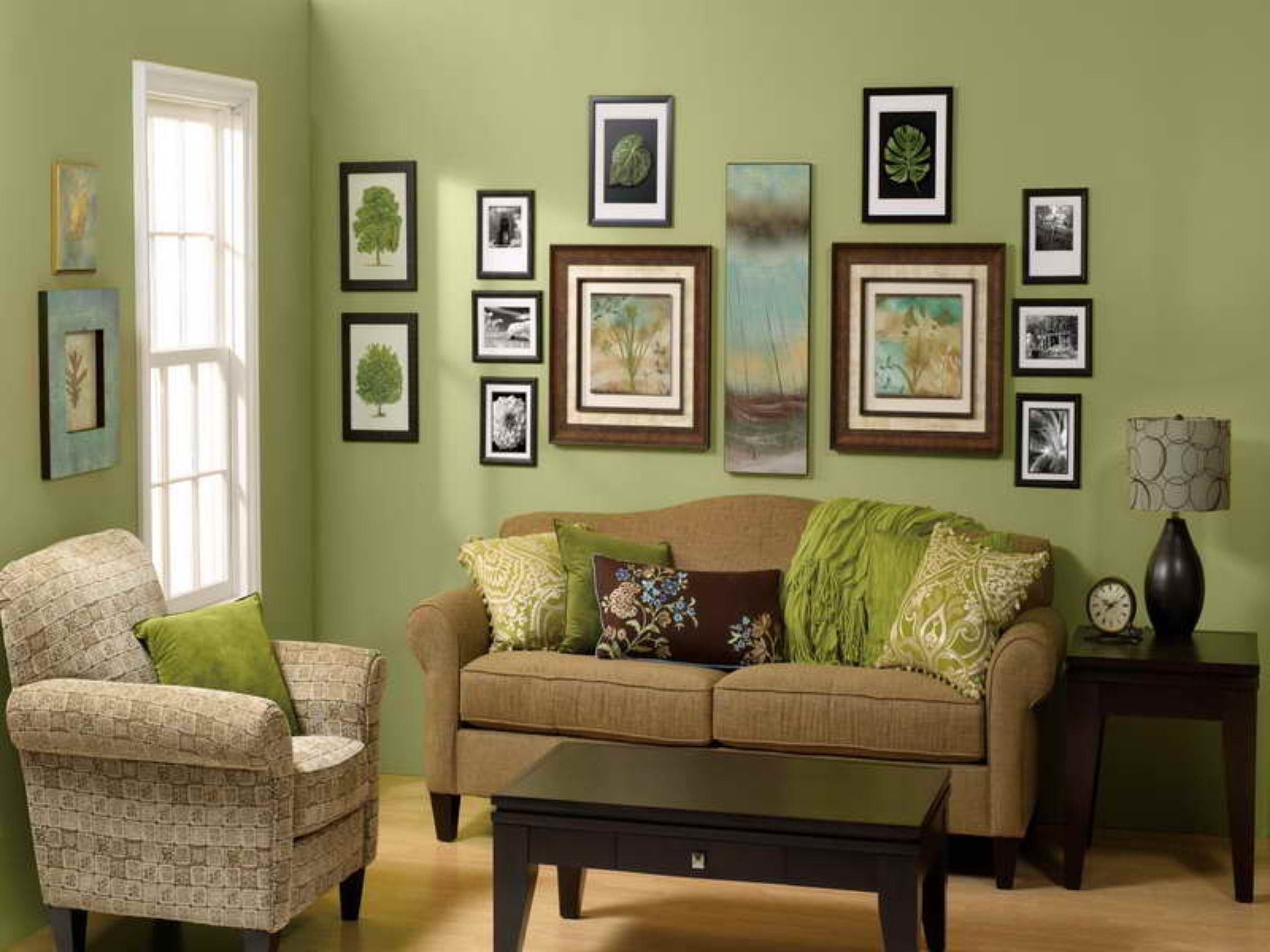 Decorating Ideas For Living Room With Green Walls Wall D