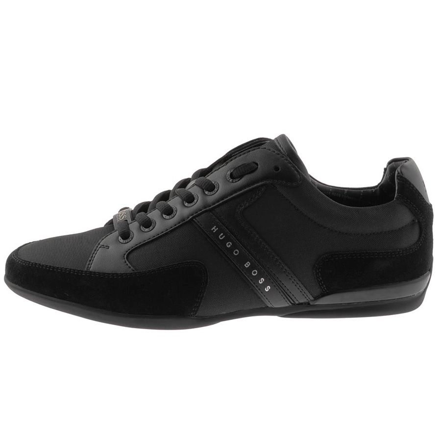 HUGO BOSS Green Footwear > HUGO BOSS Green Spacit Trainers Black > Hugo  Boss Green Trainers