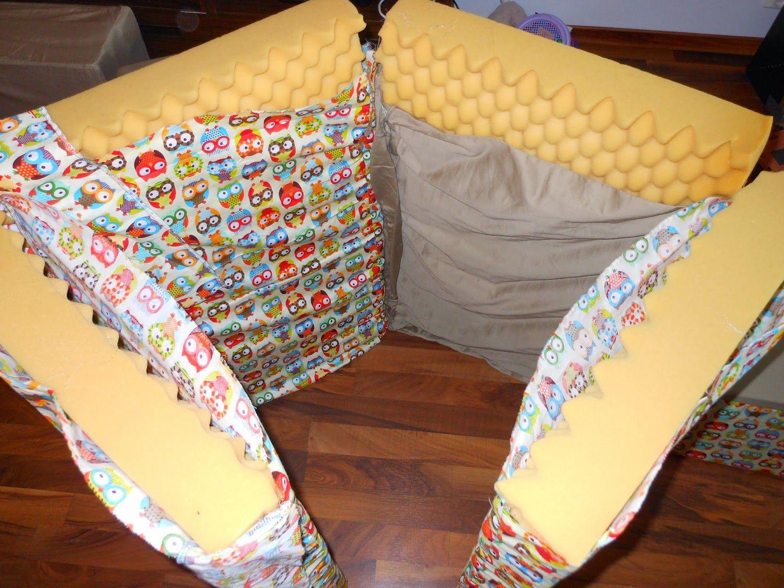 Helt nye Foldemadrass. Delt ei skum madrass i fire og sydd trekk til. | Sy MX-46