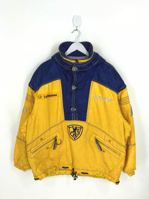 Goldwin Ski Wear Jacket Xlarge Vintage 90 S Goldwin Sweden Ski Team Yellow Jacket Sportswear Outerwear Bomber Hoodie Snow Jacket Size Xl Jackets Snow Jacket Ski Wear [ 3000 x 2250 Pixel ]