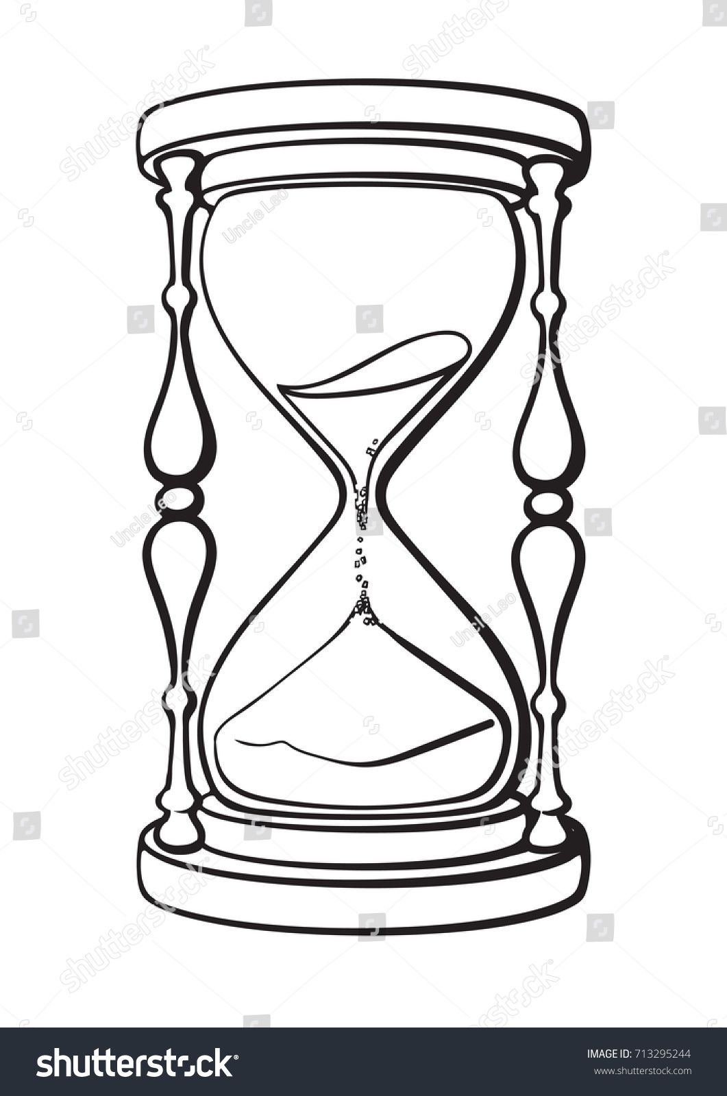 15++ Hourglass clipart black and white ideas