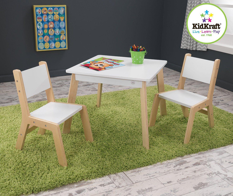 Amazon Com Kidkraft Modern Table And 2 Chair Set Toys Games Modern Table And Chairs Table And Chair Sets Sturdy Furniture Kidkraft table and chairs white