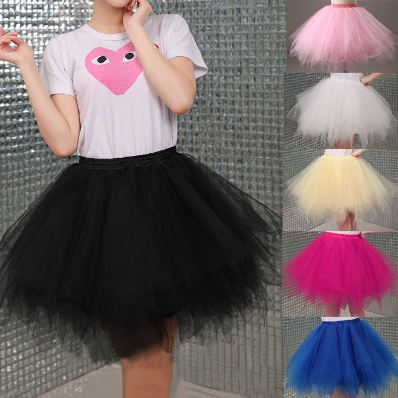 Cheap Pleated Mini Skirt Buy Quality Tulle Directly From China Adult Tutu Suppliers 2017 Skirts Womens High Elastic Stretchy