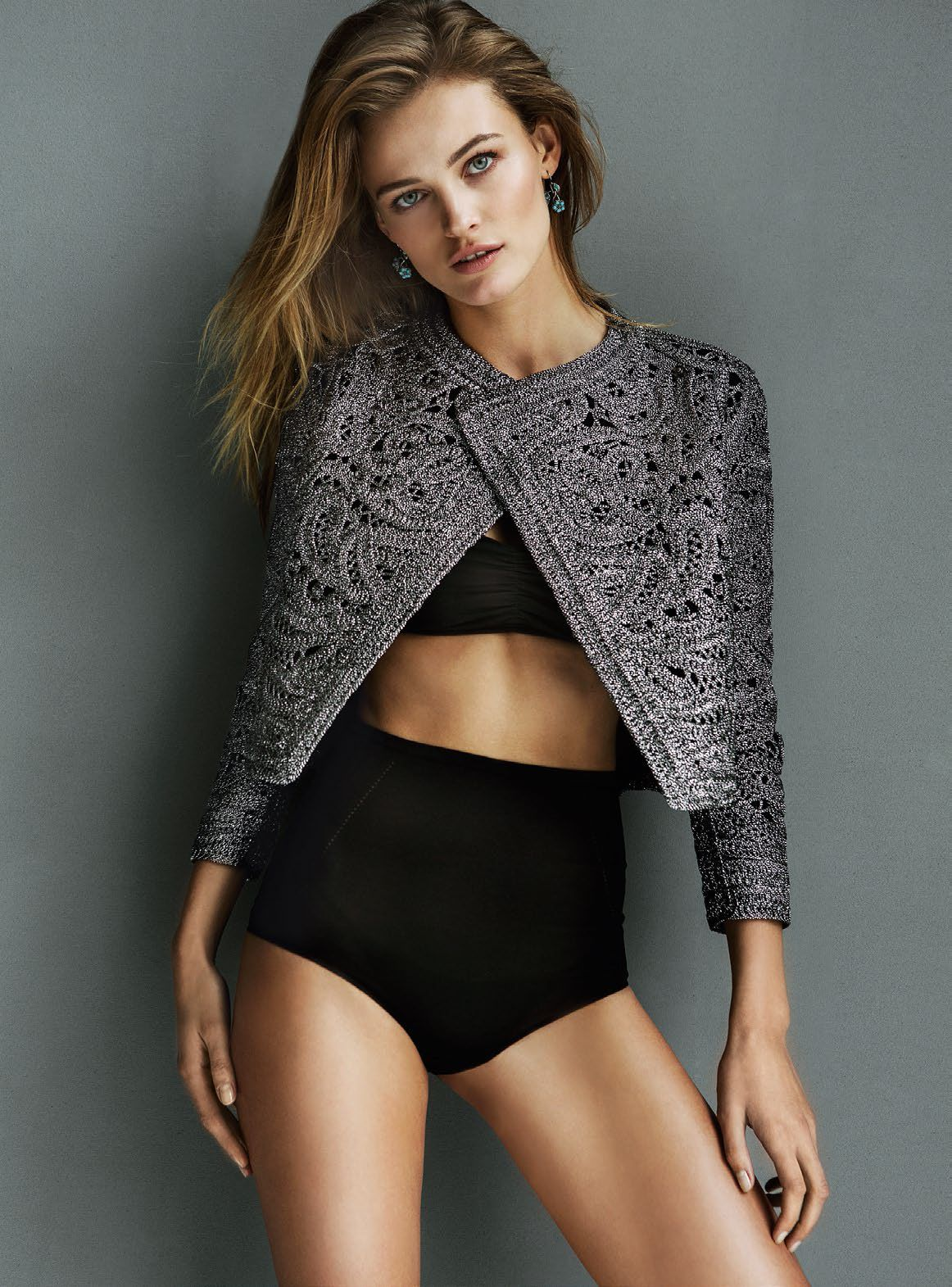 sexy this, love that  sweater  ::  Edita Vilkeviciute by Bela Adler  and Salvador Fresneda for Glamour Spain, May 2015
