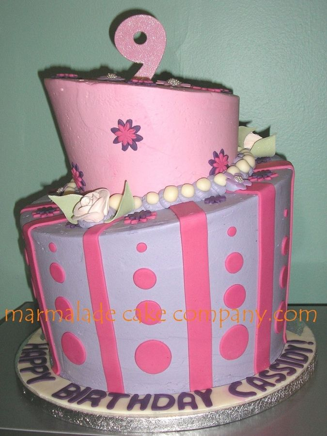 Mad Hatter For 9 Year Old Girl With Images Cool Birthday Cakes