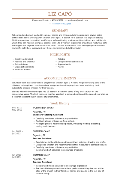 resume examples volunteer activities 1 resume examples sample
