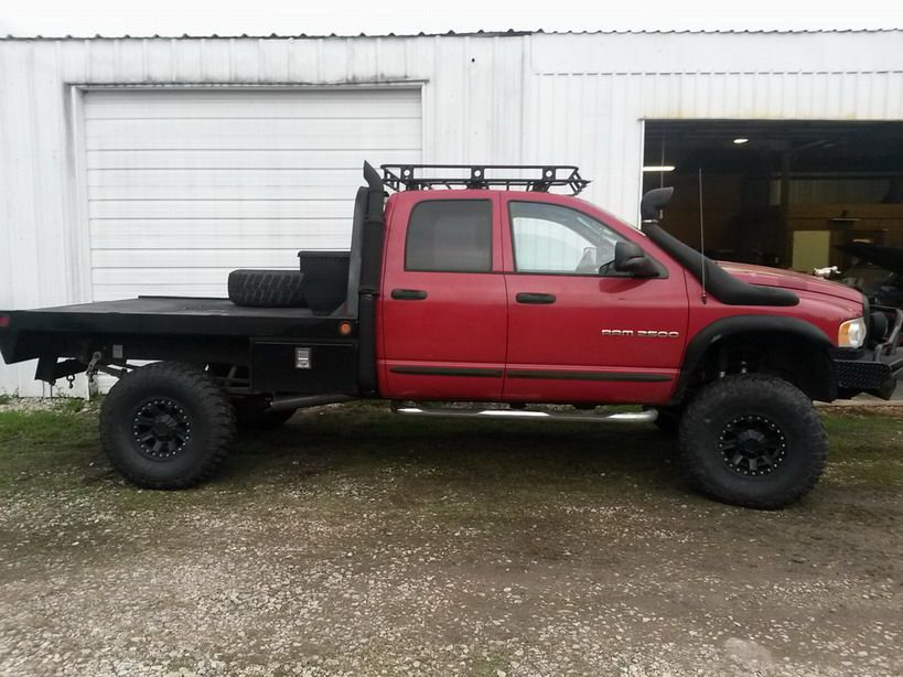 E B D E Fc Aff F on Red Dodge Ram 2500 Flatbed