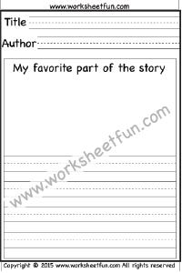 Book Report – 15 Worksheets   Printable Worksheets   Printable ...