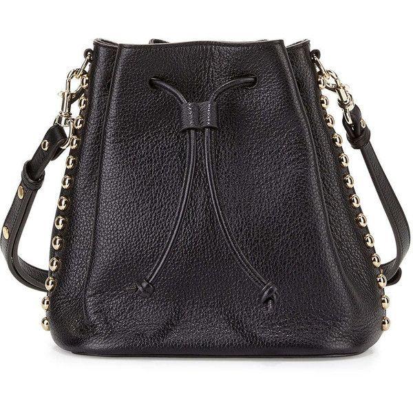 Rebecca Minkoff Stud Trim Leather Bucket Bag 22 330 Inr Liked On Polyvore