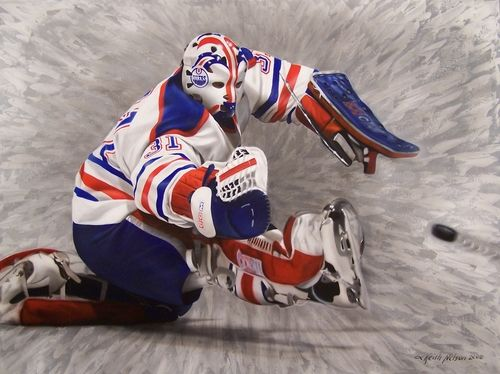 Grant Fuhr Painting By Keith Nelson Grant Fuhr Keith Nelson