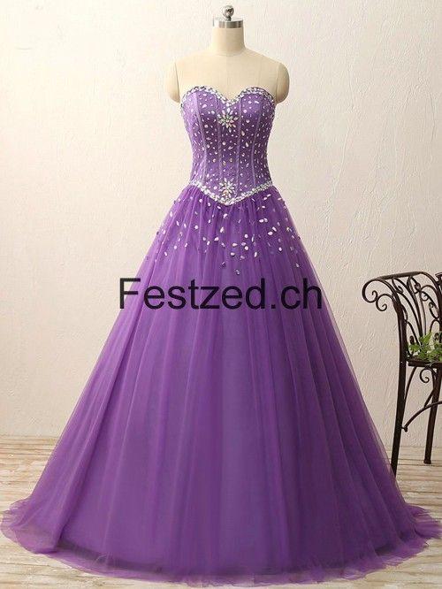 Kleid lila glitzer