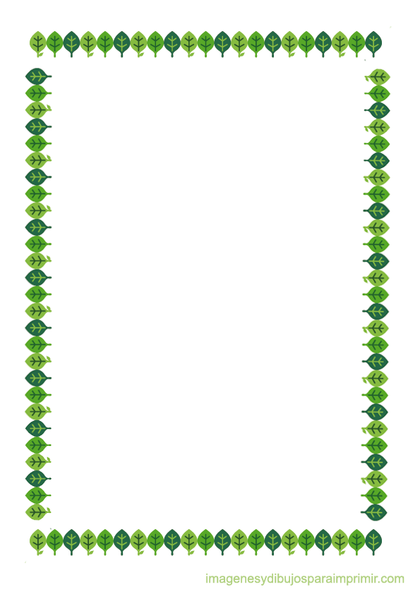 Bordes con hojas para imprimir-Imagenes y dibujos para imprimir ...