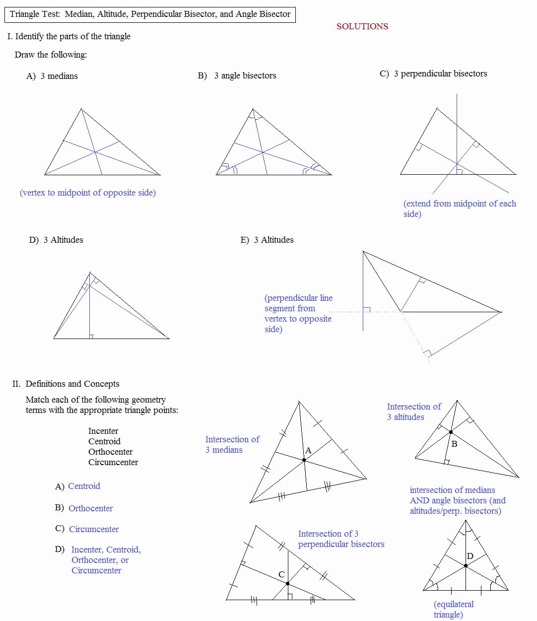 Points Of Concurrency Worksheet Fresh Math Plane Triangle