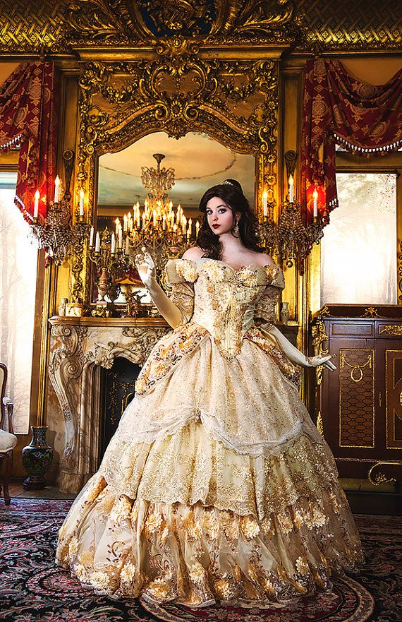Special Offer! Belle Upscale Adult Fantasy Sparkle Deluxe Gown with ...