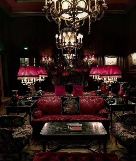58 ideas living room red black chandeliers | Gothic living ...
