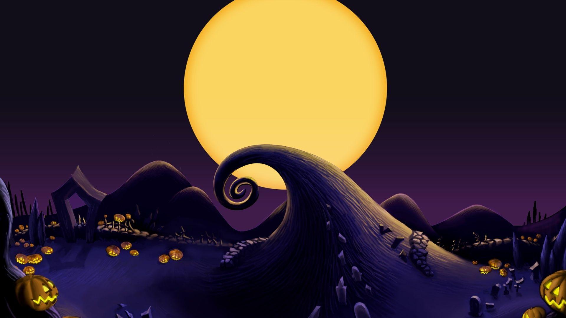 Jack Skellington Purple Wallpaper