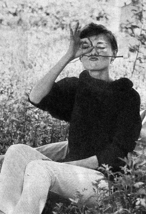 Audrey Hepburn in her garden #hollywoodicons