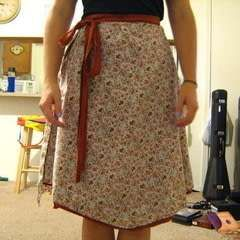 Wrap Skirt, Old Material