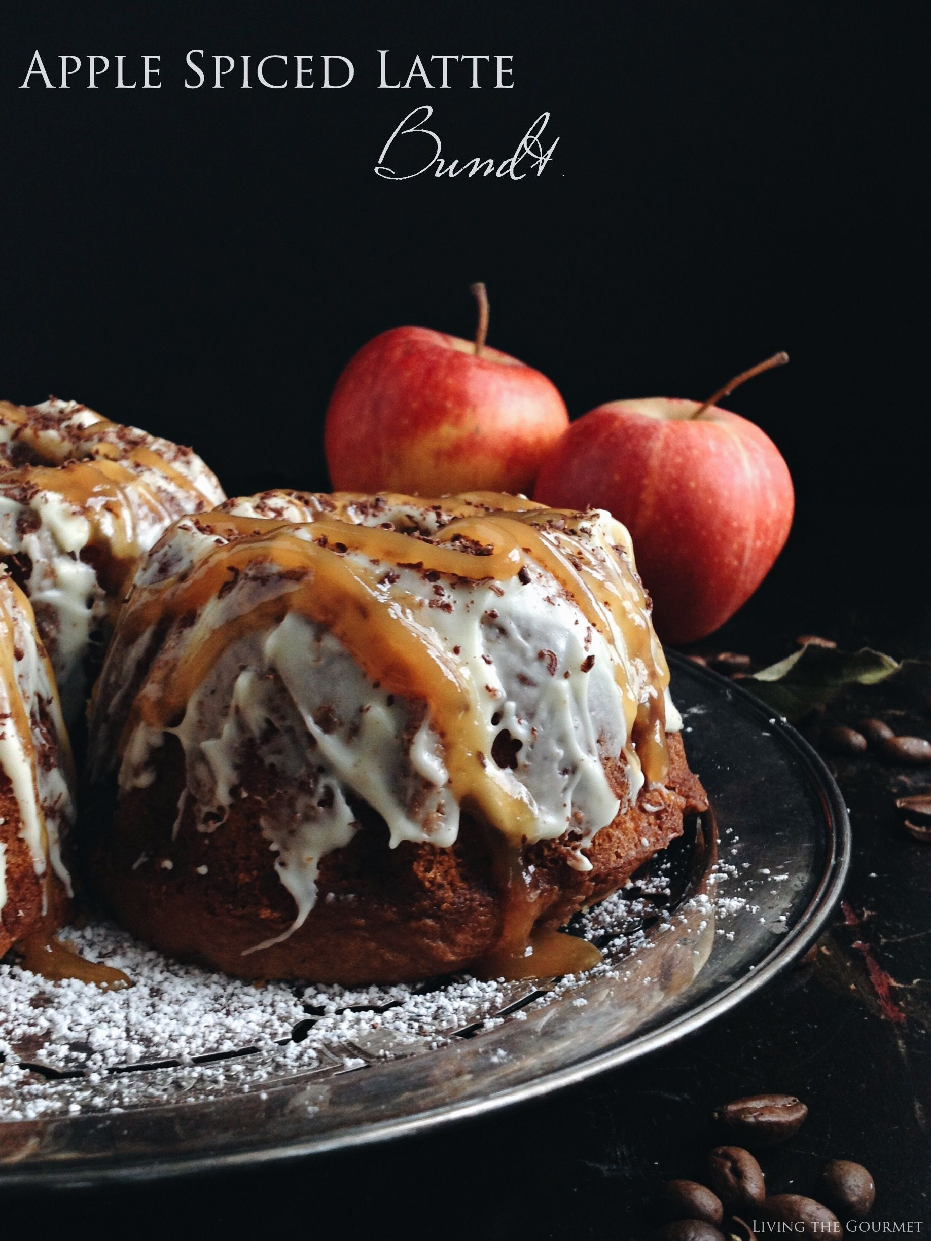 Inspired by a fall favorite, these bundts have all the trimmings! A java infused cake is speckled with spiced apples, then cloaked in white chocolate, grated chocolate and a caramel drizzle. I have been going crazy this season with apples. My creativity was put on hold due to a cold but now that I'm better,...Read More »
