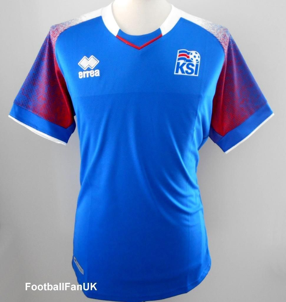 Iceland Offiziell Errea Mens Home Shirt World Cup 2018 New Jersey Fashion Big Size T Spain 3xl Island Ksi Discount Price 8700