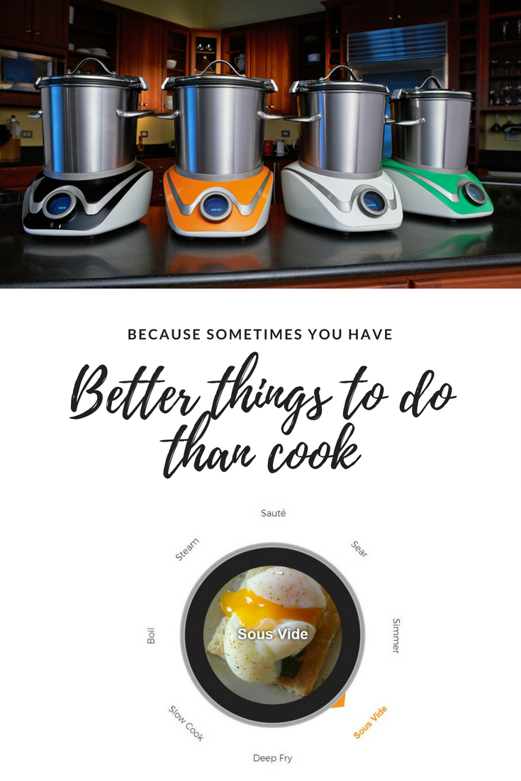 One Cooking Appliance To Rule Them All This New Kickstarter Product Sautees Sears Boils Stea Appliances Delicious Family Meals Measurements
