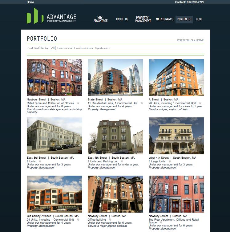 Advantage Property Management Website Design By Digital Marketing Now Property Management Newbury Street Boston Property