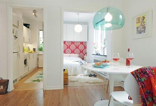 casas  Diseño Interior de un Apartamento Pequeño y Práctico Home