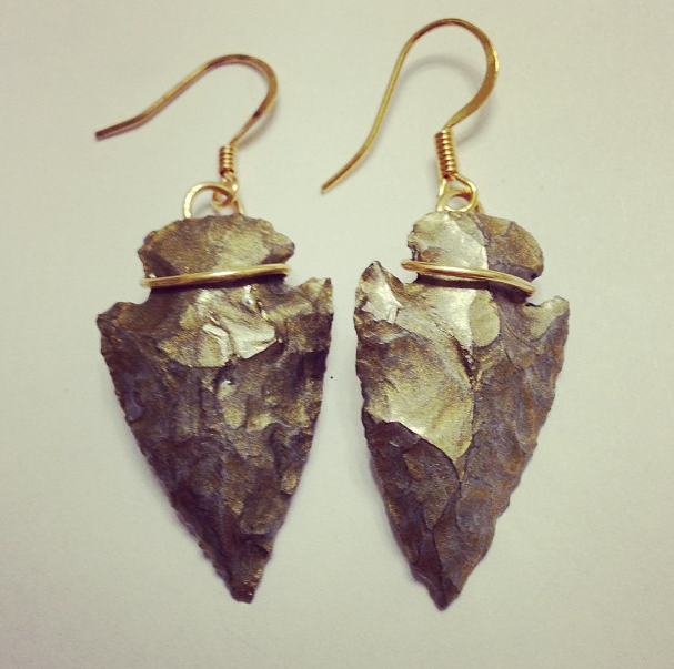 Arrowhead Necklaces, Rings, and Earrings available at www.moonmetaljewelry.com $28