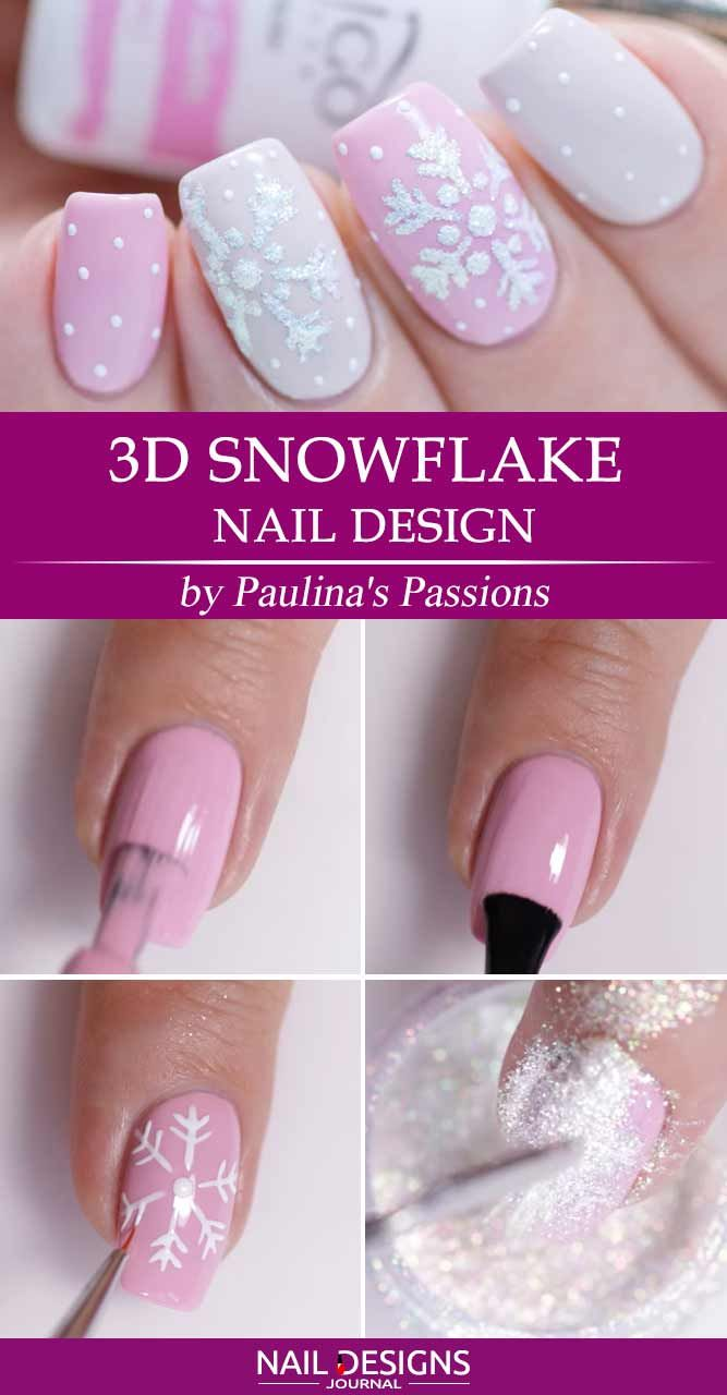 Best Tutorials Of Snowflake Nails Designs With Images Ladne
