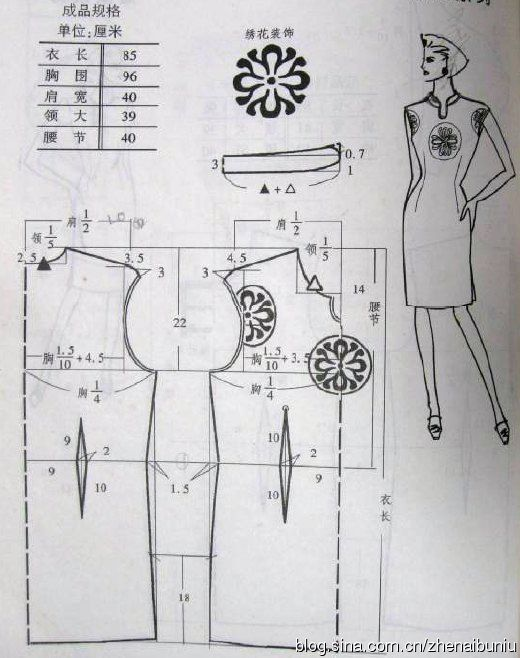Interesting Qipao with cutaway sleeves and a notch(?) in the ...