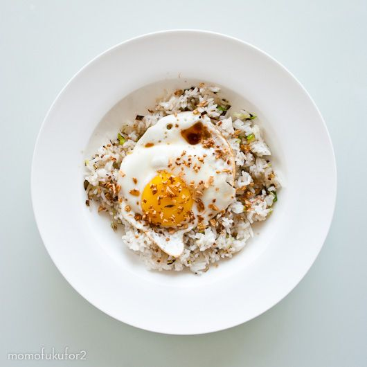 jean-geroge vongerichten's ginger fried rice | momofuku for two.