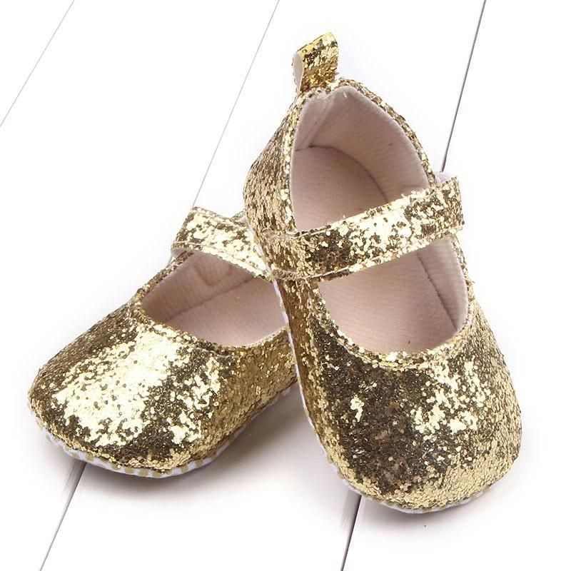 NEW Baby Girls Gold Glitter Sequin Mary